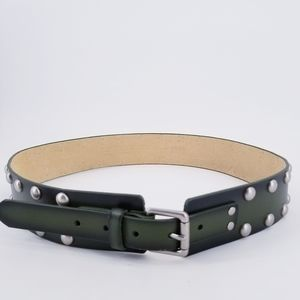 NOBO Leather Green Studded Belt